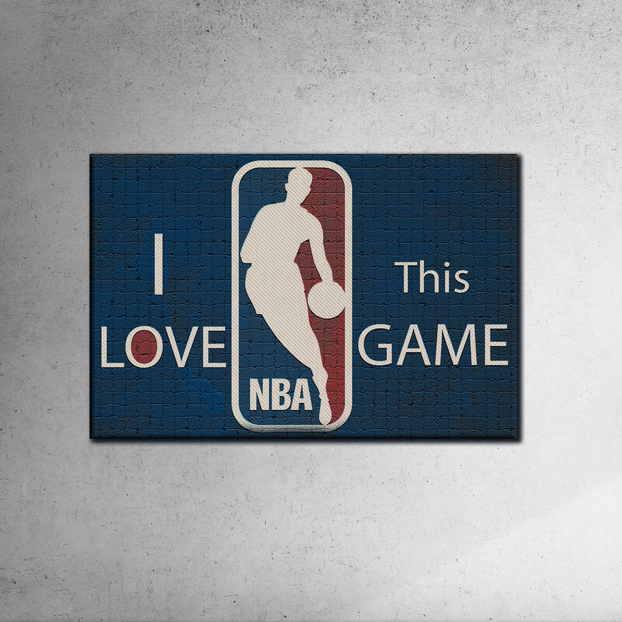I Love This Game  Canvas Tablo (out-Nba-canvas-thisgame)