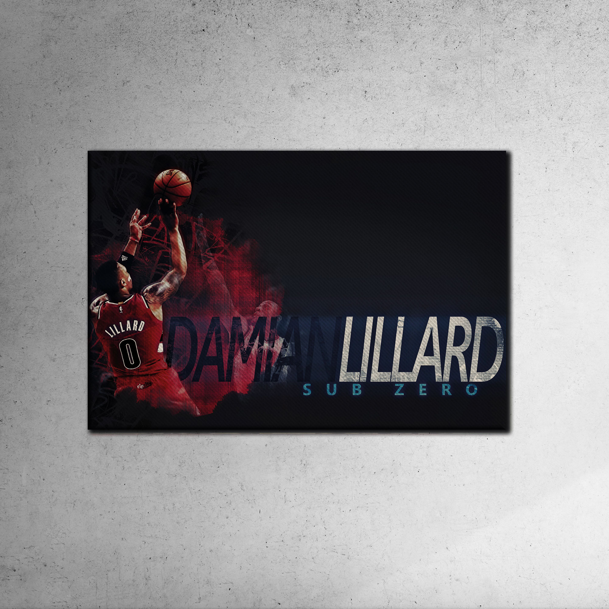 Damian Lillard Canvas Tablo (Nba-canvas-damian1)