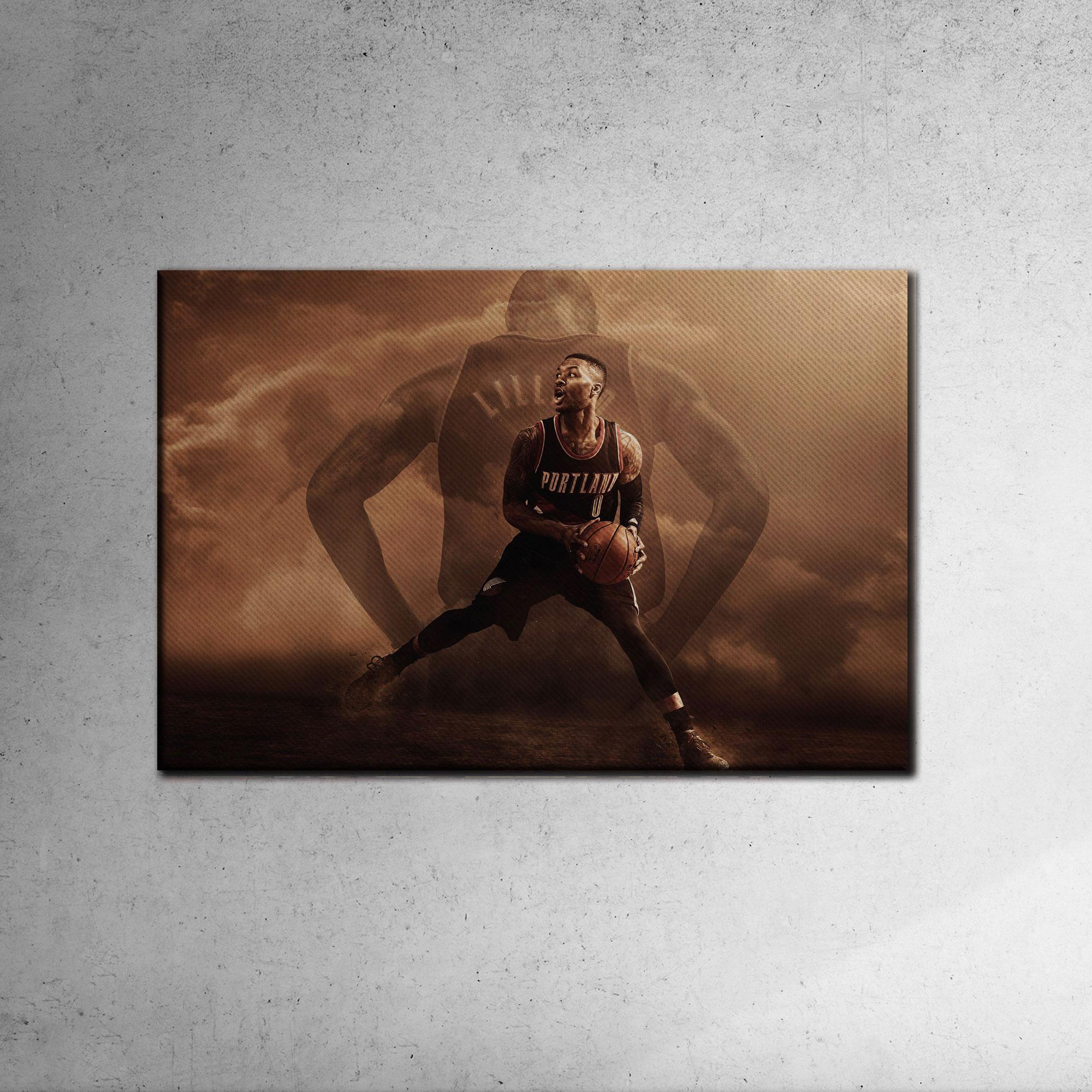 Damian Lillard Canvas Tablo (Nba-canvas-damian2)