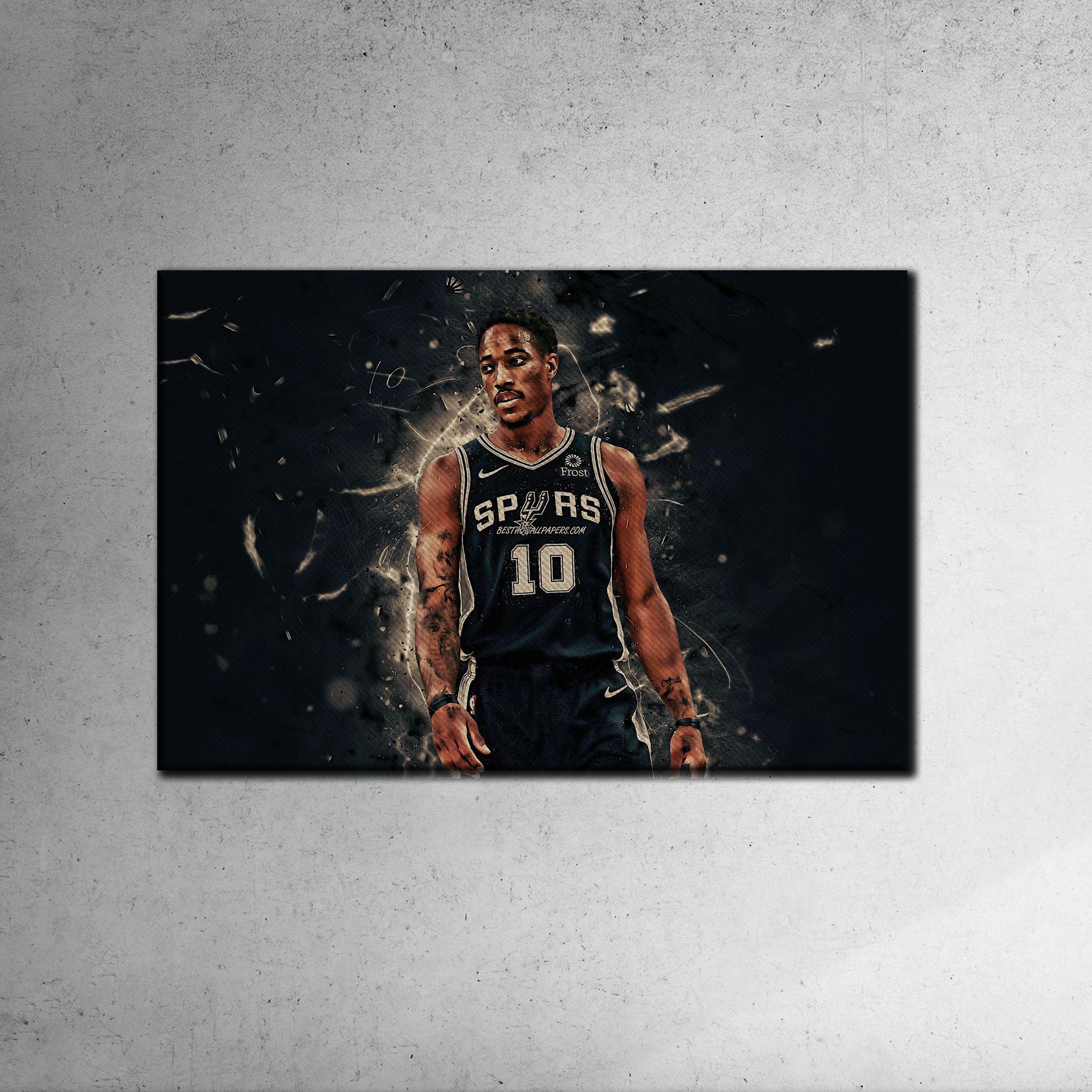 San Antonio Spurs Demar Derozan Canvas Tablo (Nba-canvas-demar)