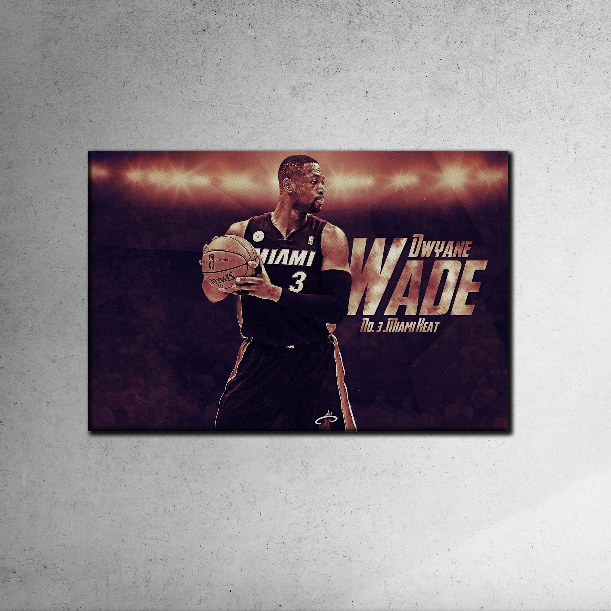 Dwayne Wade Canvas Tablo (Nba-canvas-dwayne2)