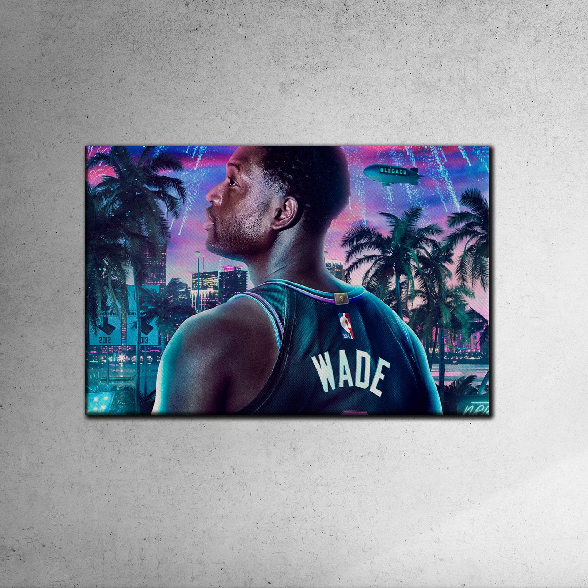 Dwayne Wade Canvas Tablo (Nba-canvas-dwayne1)