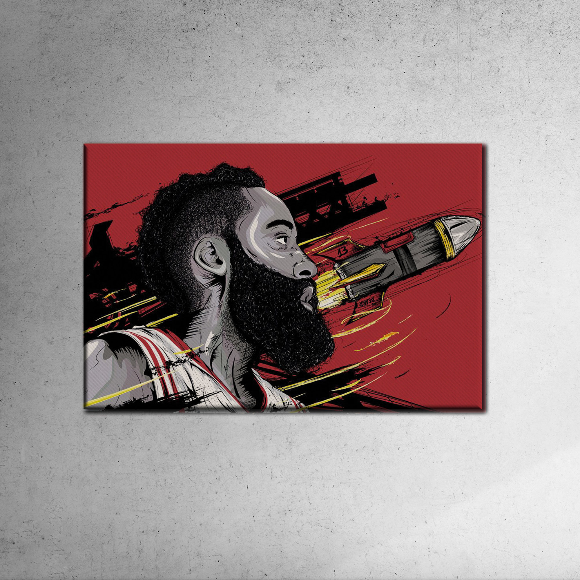 James Harden Canvas Tablo (Nba-canvas-harden2)