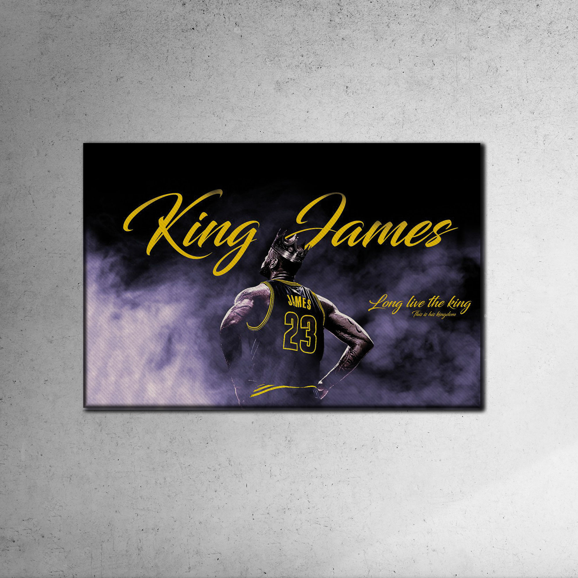 Lebron James Canvas Tablo (Nba-canvas-lebron3)