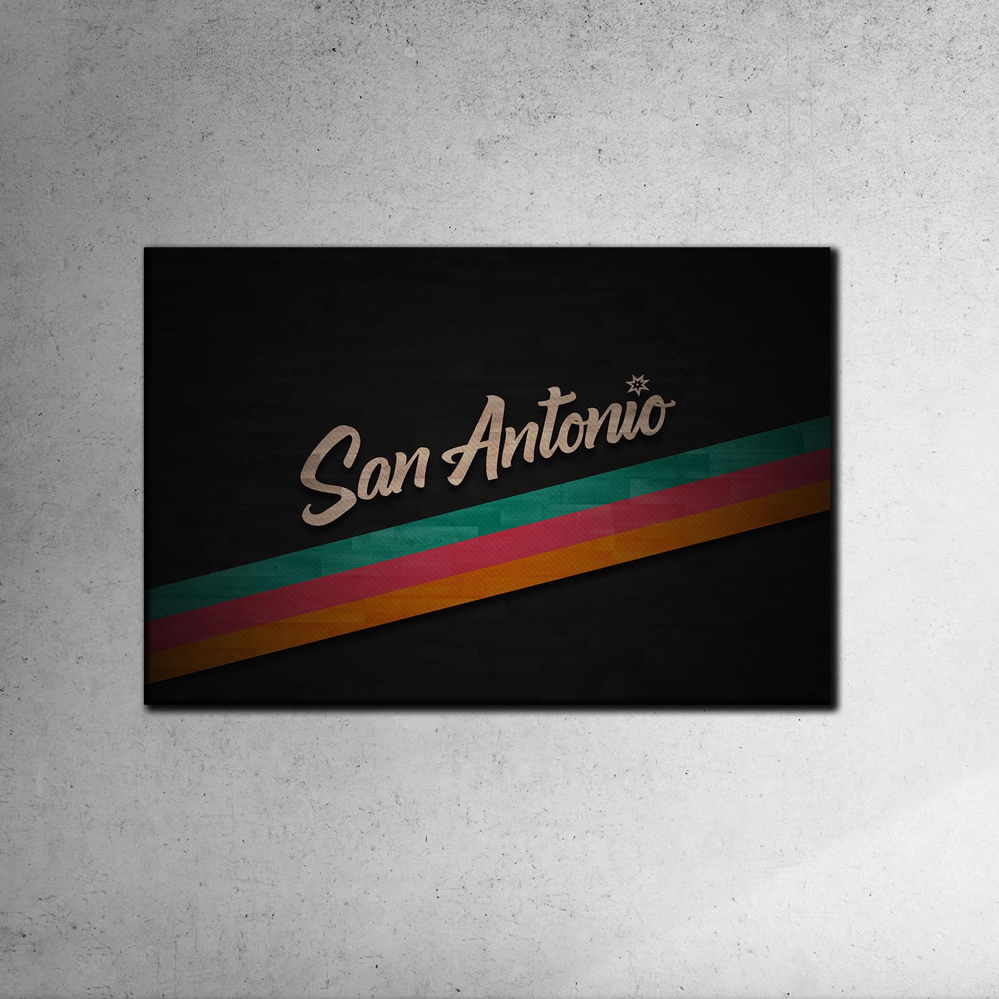 San Antonio Spurs San Antonio Canvas Tablo (Nba-canvas-antonio1)