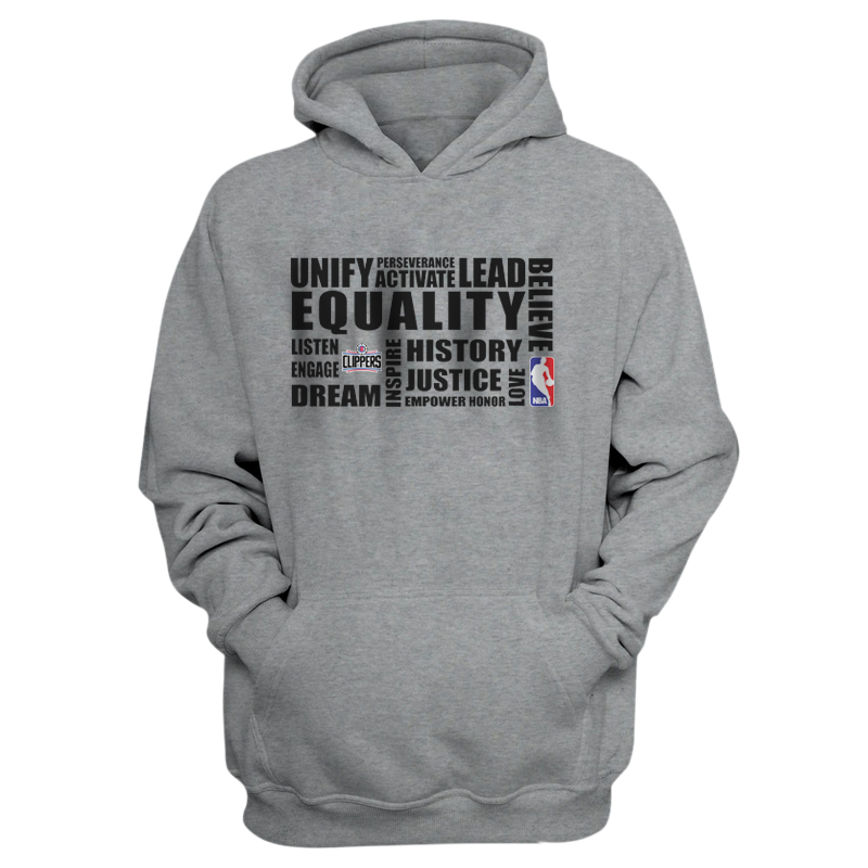 EQUALITY  L.A. Clippers  Hoodie (HD-GRY-NP-292-NBA-LAC.syh)