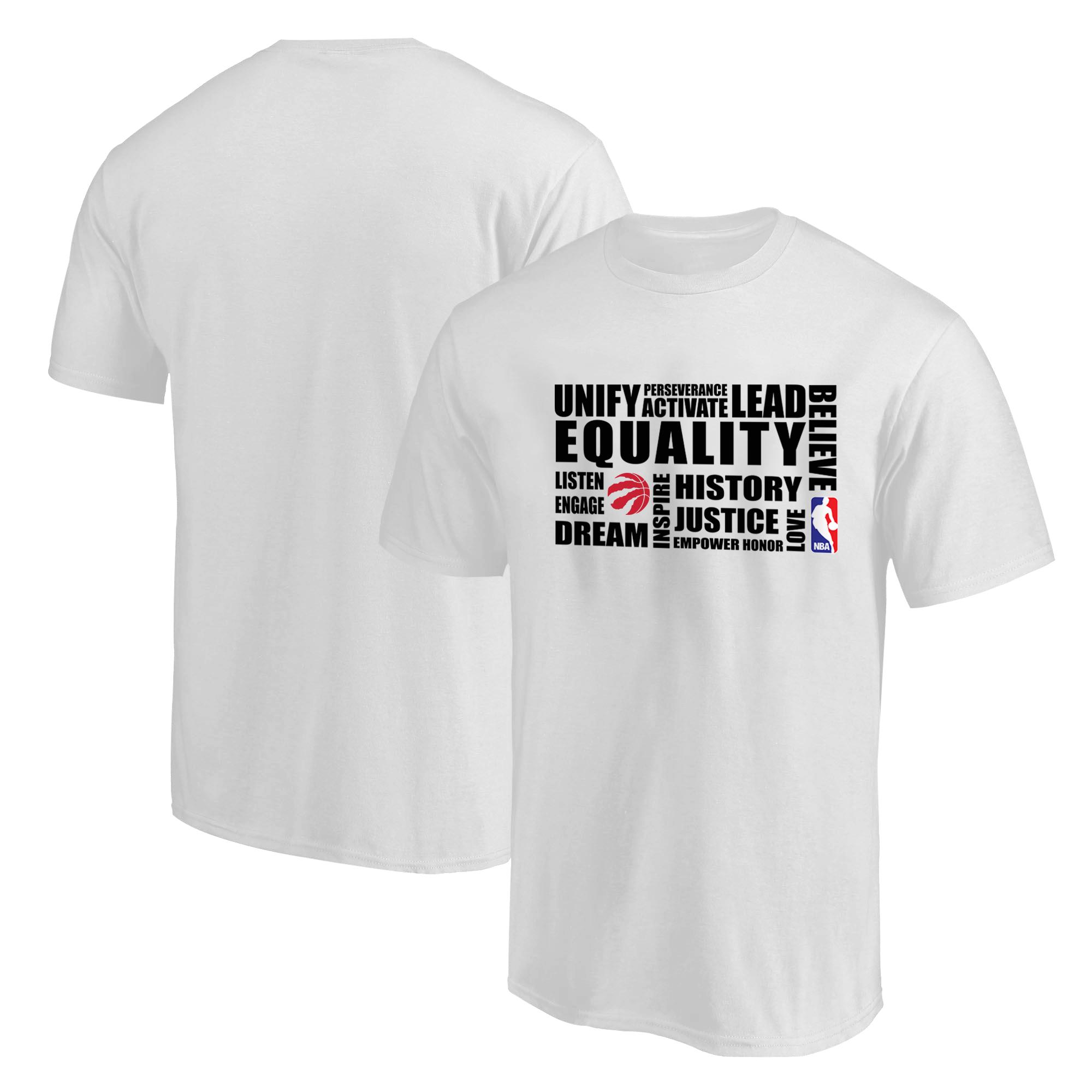 EQUALITY Toronto Raptors Tshirt (TSH-WHT-NP-292-NBA.TOR.syh)
