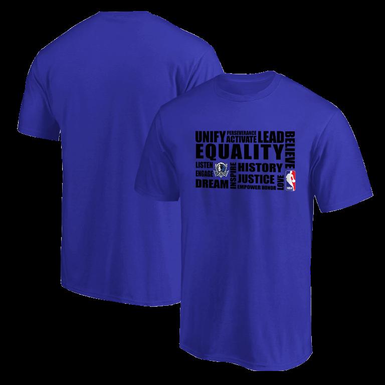 EQUALITY Dallas Mavericks  Tshirt (TSH-BLU-NP-292-NBA-DAL.syh.)