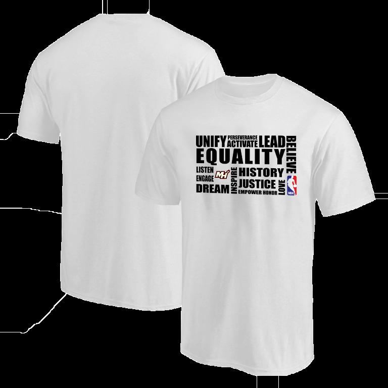 EQUALITY Miami Heat Tshirt (TSH-WHT-NP-292-NBA.MİA.syh)
