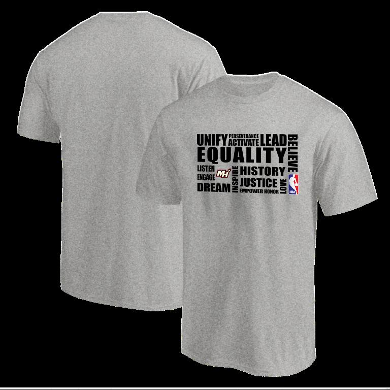 EQUALITY Miami Heat  Tshirt (TSH-GRY-NP-292-NBA.MİA.syh)