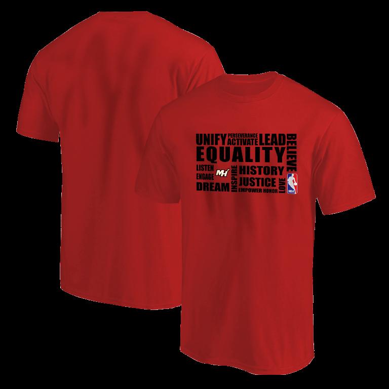 EQUALITY Miami Heat Tshirt (TSH-RED-NP-292-NBA.MİA.syh)