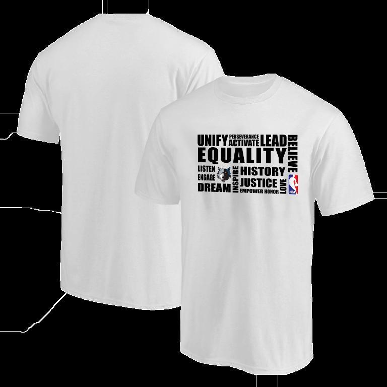 EQUALITY Minnesota Timberwolves  Tshirt (TSH-WHT-NP-292-NBA.MİN.syh)