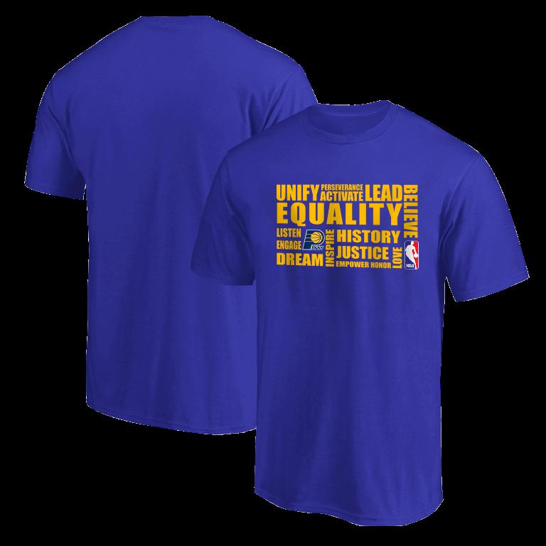 EQUALITY Indiana Pacers Tshirt (TSH-BLU-NP-290-NBA.IND.yllw)