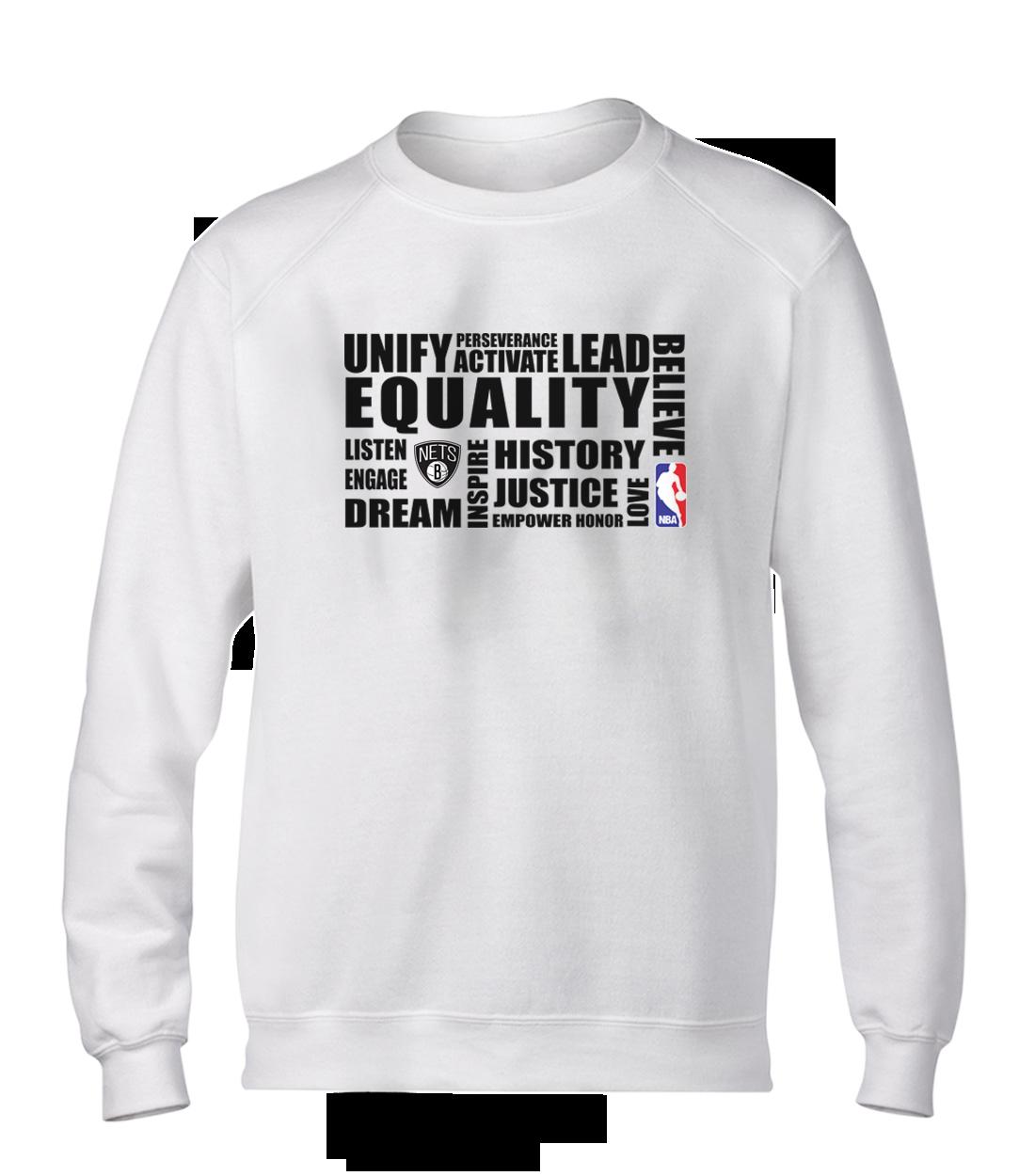 EQUALITY Brooklyn Nets Basic (BSC-WHT-NP-292-NBA.BRKL.syh)