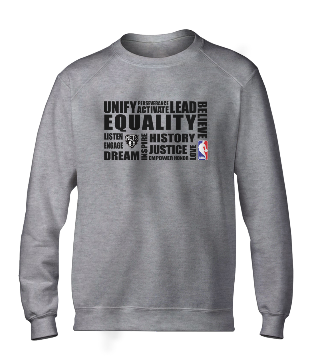 EQUALITY Brooklyn Nets Basic (BSC-GRY-NP-292-NBA.BRKL.syh)