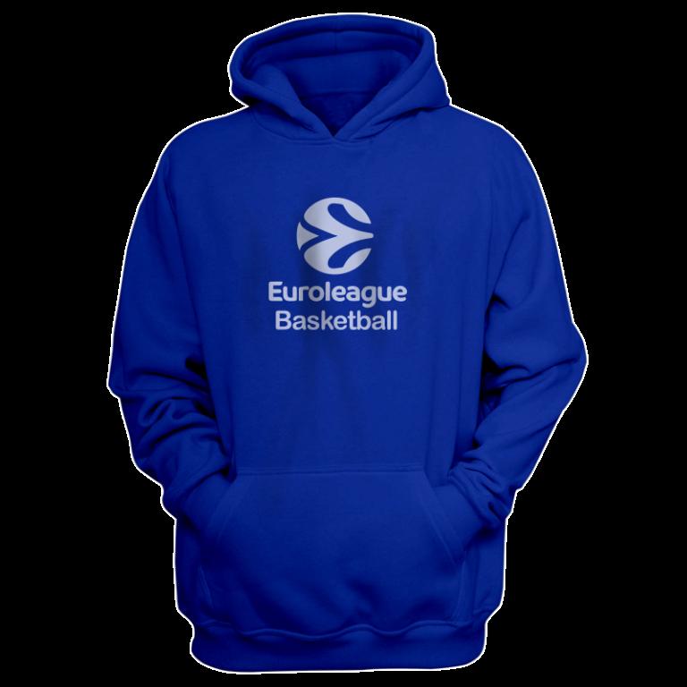 Euroleague Basketball  Hoodie (HD-BLU-NP.euro.bsktbll.new-611)