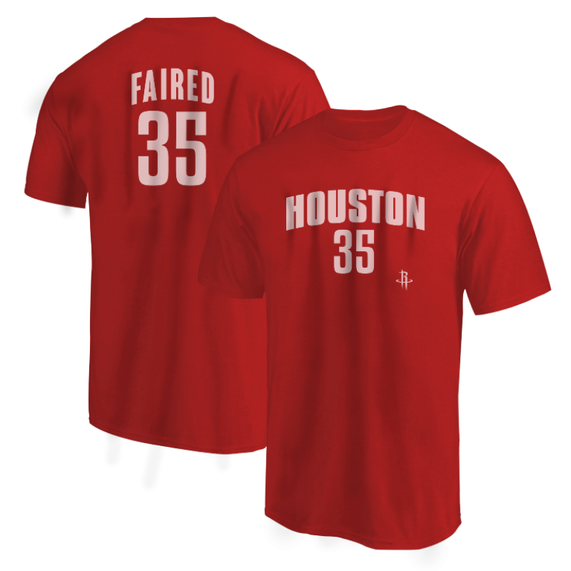 Houston Rockets Kenneth Faried Tshirt (TSH-BLC-PLT-Faried35-617)