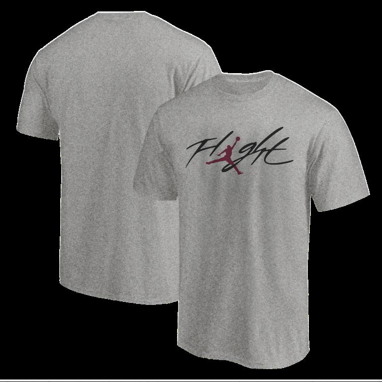 Air Jordan  Tshirt (TSH-GRY-NP-10-PLYR-JRDN-FLGHT-RNK)