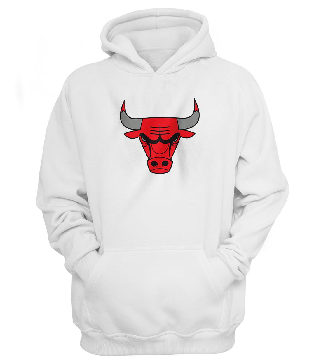 Chicago Bulls Hoodie (HD-WHT-NP-46-NBA-CHİ-LOGO)