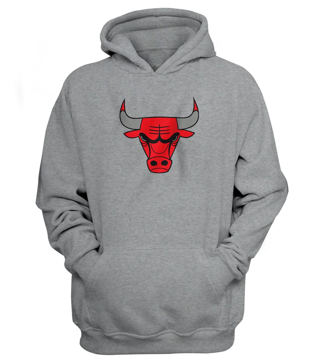 Chicago Bulls Hoodie (HD-GRY-NP-46-NBA-CHİ-LOGO)