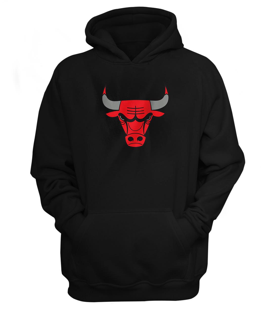 Chicago Bulls Hoodie (HD-BLC-46-NP-NBA-CHİ-LOGO)