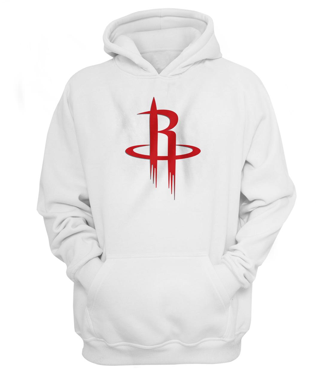 Houston Rockets Hoodie (HD-WHT-NP-114-NBA-HOU-LOGO)