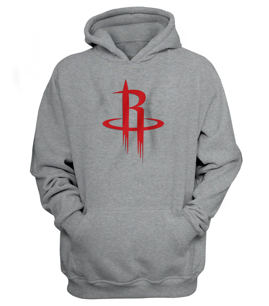 Houston Rockets Hoodie (HD-GRY-NP-114-NBA-HOU-LOGO)