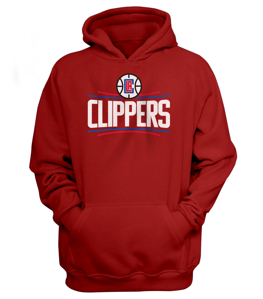 L.A. Clippers Hoodie (HD-RED-NP-119-NBA-LAC-LOGO)
