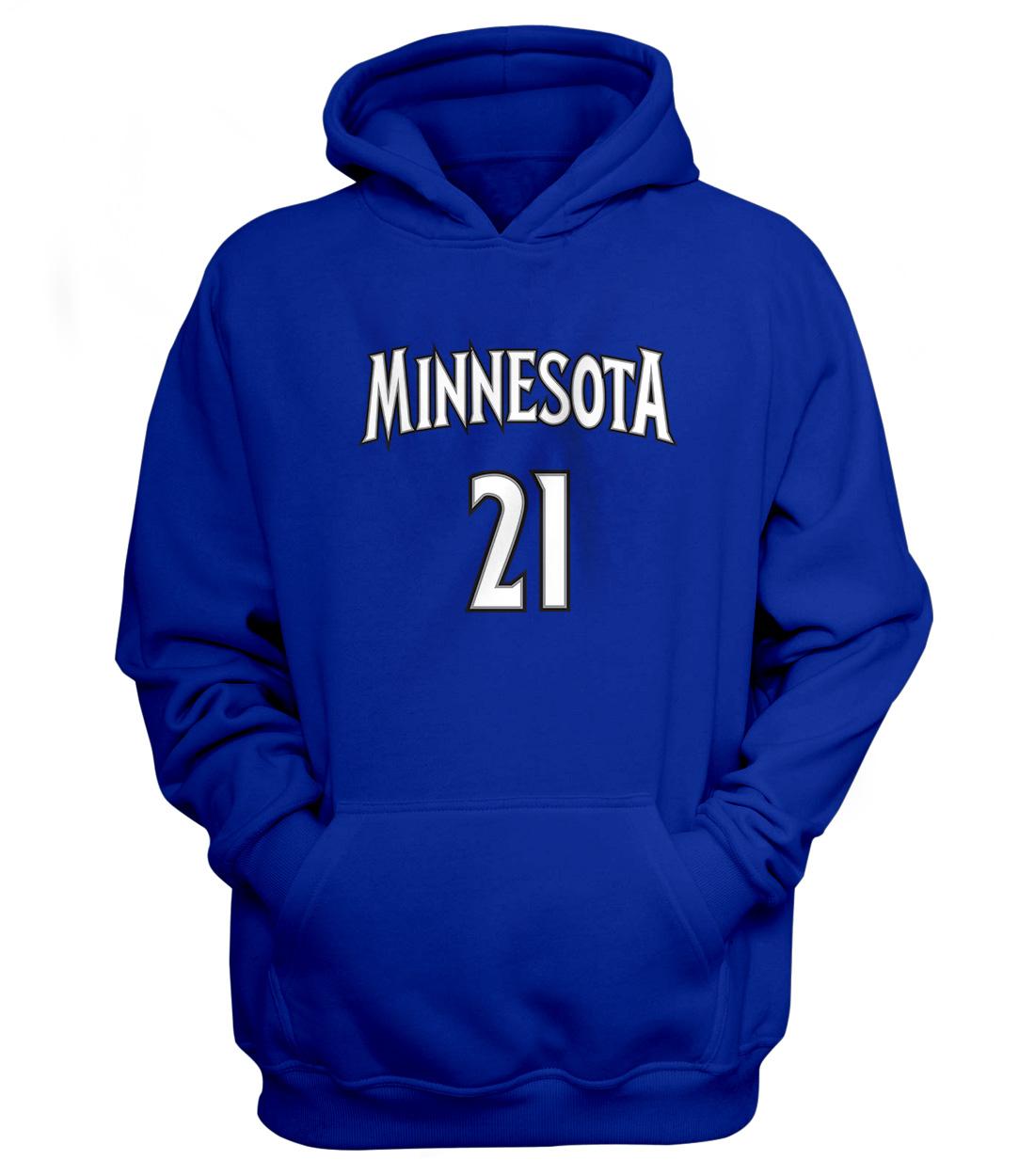 Minnesota Timberwolves Minnesota Kevin Garnett Hoodie (HD-BLU-180-PLYR-MIN-GARNETT.FRM)