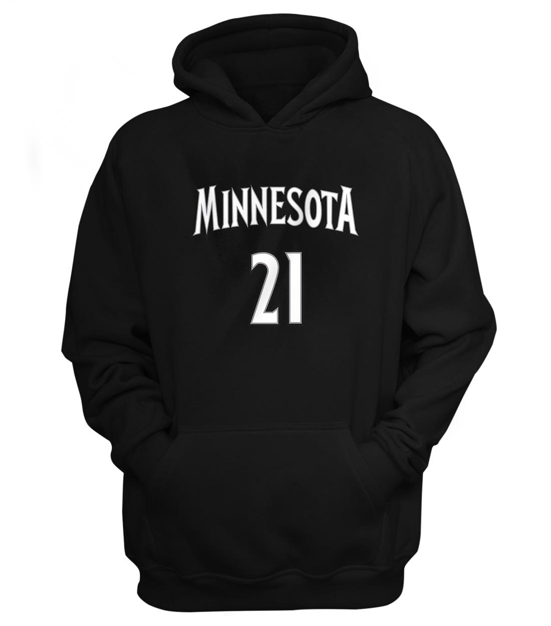 Minnesota Timberwolves Minnesota Kevin Garnett Hoodie (HD-BLC-180-PLYR-MIN-GARNETT.FRM)