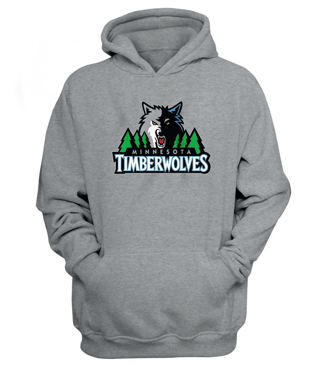 Minnesota Timberwolves Hoodie (HD-GRY-156-NBA-MIN-TIMBERWOLVES)