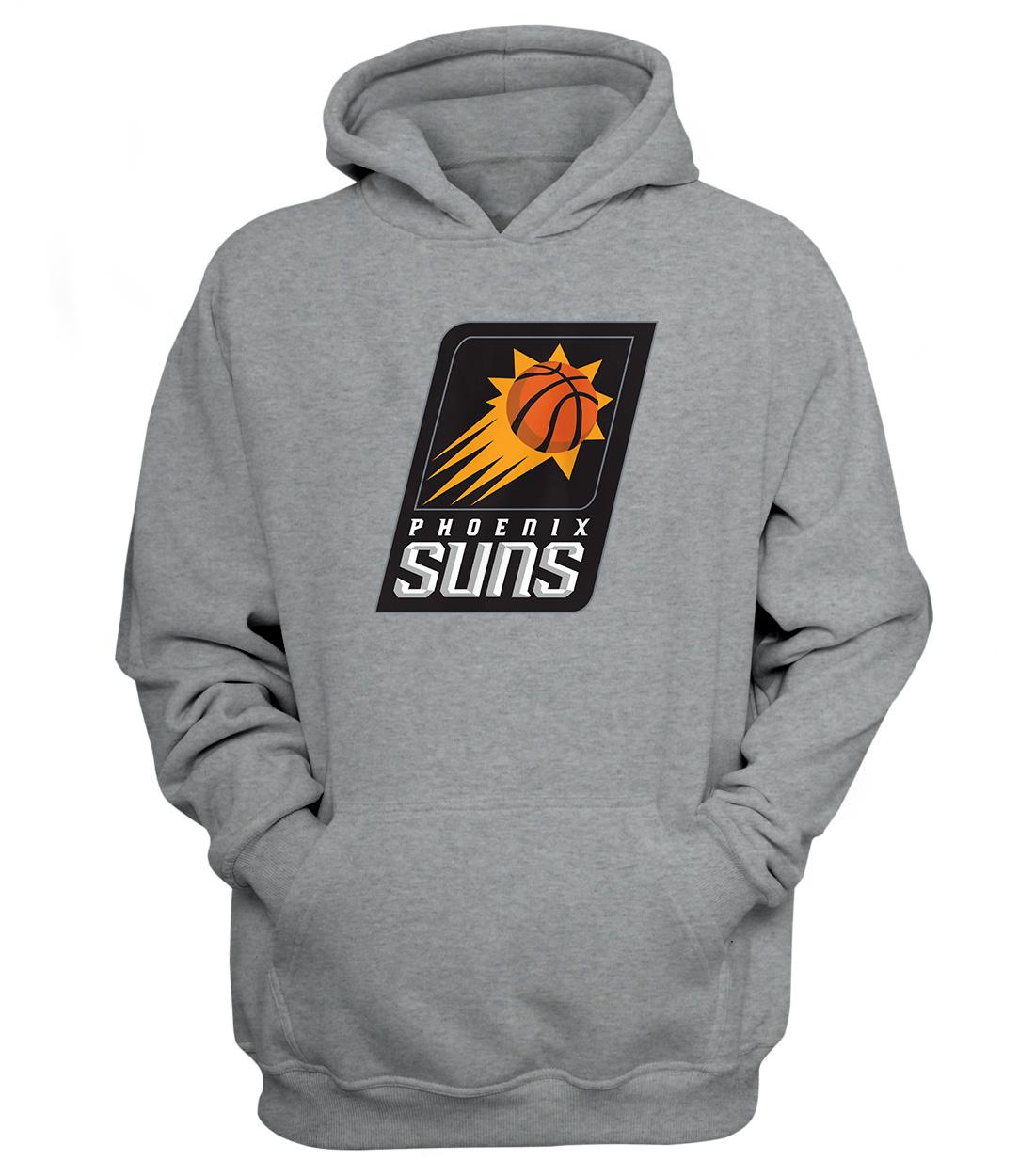 Phoenix Suns Hoodie (HD-GRY-NP-187-NBA-PHO-LOGO)