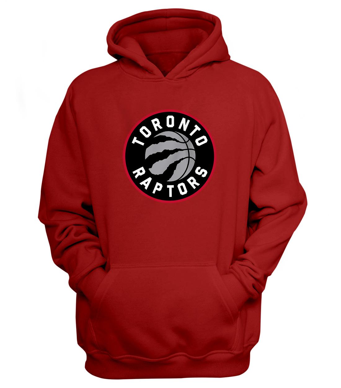 Toronto Raptors Hoodie (HD-RED-NP-197-NBA-TOR-LOGO)