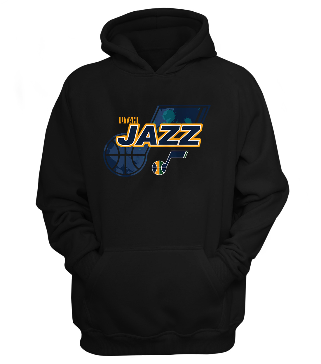 Utah Jazz Hoodie (HD-BLC-NP-200-NBA-UTH-LOGO)