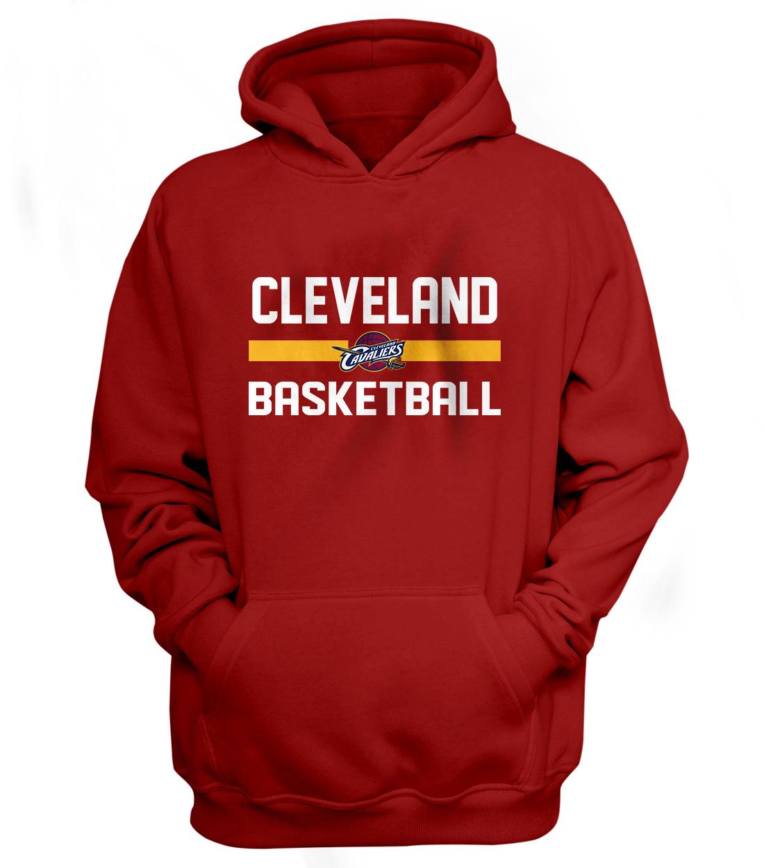Cleveland Basketball Hoodie (HD-RED-NP-66-NBA-CLE-BASKETBALL)