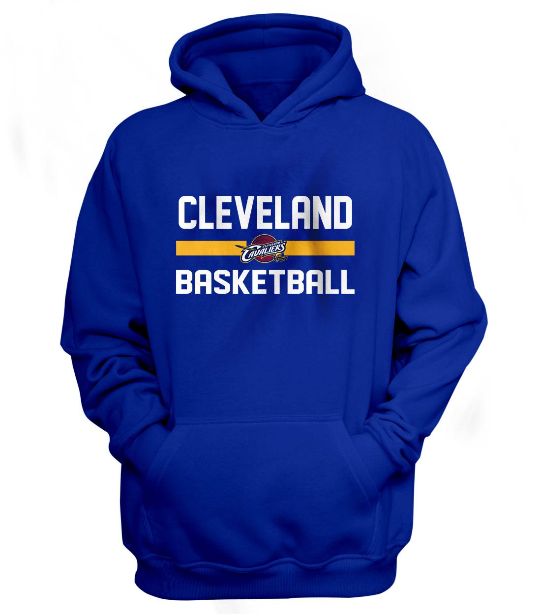 Cleveland Basketball Hoodie (HD-BLU-NP-66-NBA-CLE-BASKETBALL)