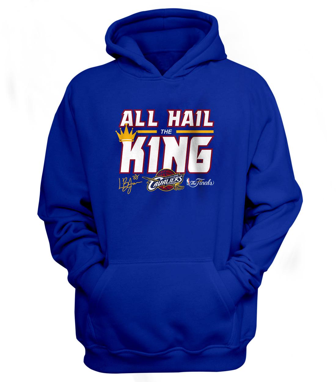 Cleveland Cavaliers 'All Hail The King' Hoodie (HD-BLU-56-PLYR-CLE-ALL.HAIL)