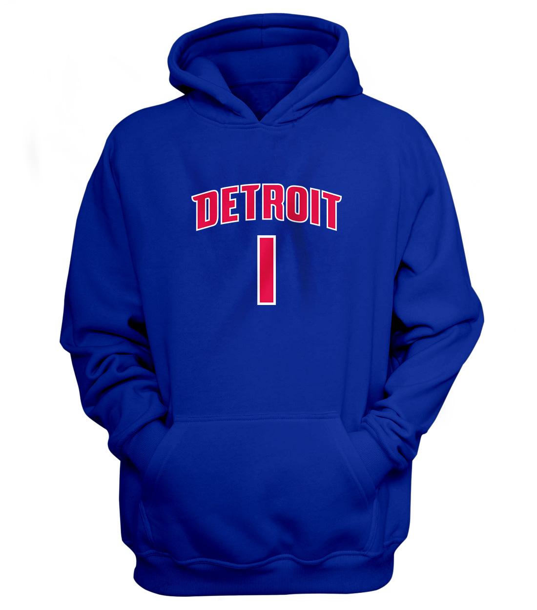 Detroit Pistons Chauncey Billups Hoodie (HD-BLU-NP-75-PLYR-DET-BILLUPS.FRM)