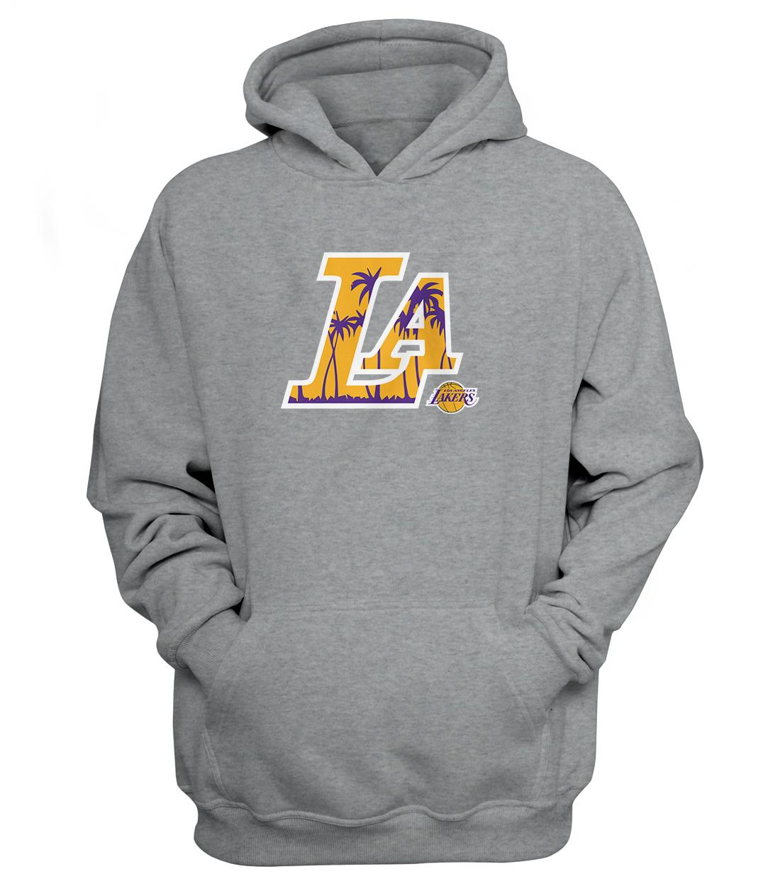 L.A. Lakers  Hoodie (HD-GRY-NP-142-NBA-LAL-L.A.)