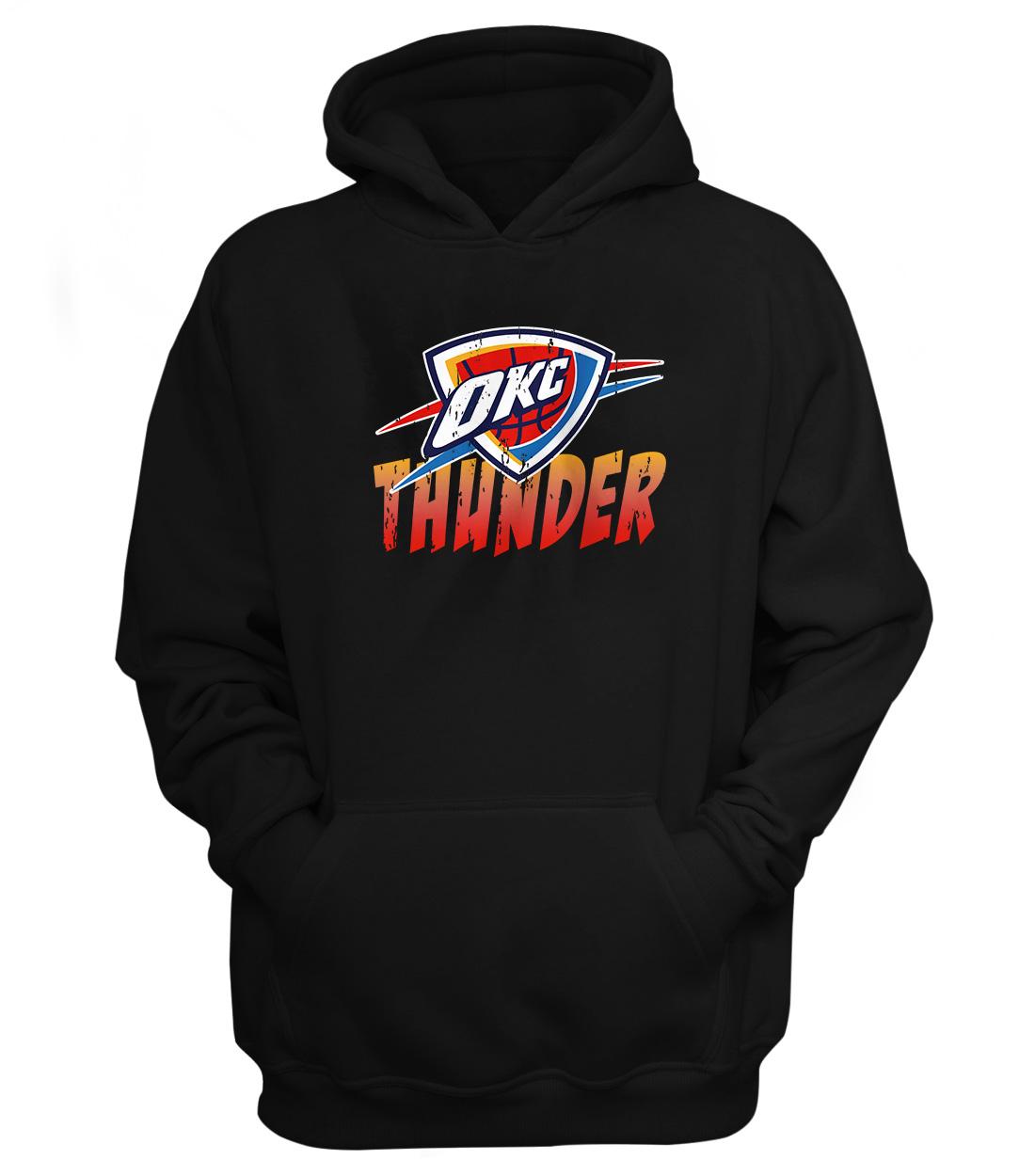 Oklahoma City Thunder Hoodie  (HD-blck-178-NBA-OKC-THUNDER.AGING)