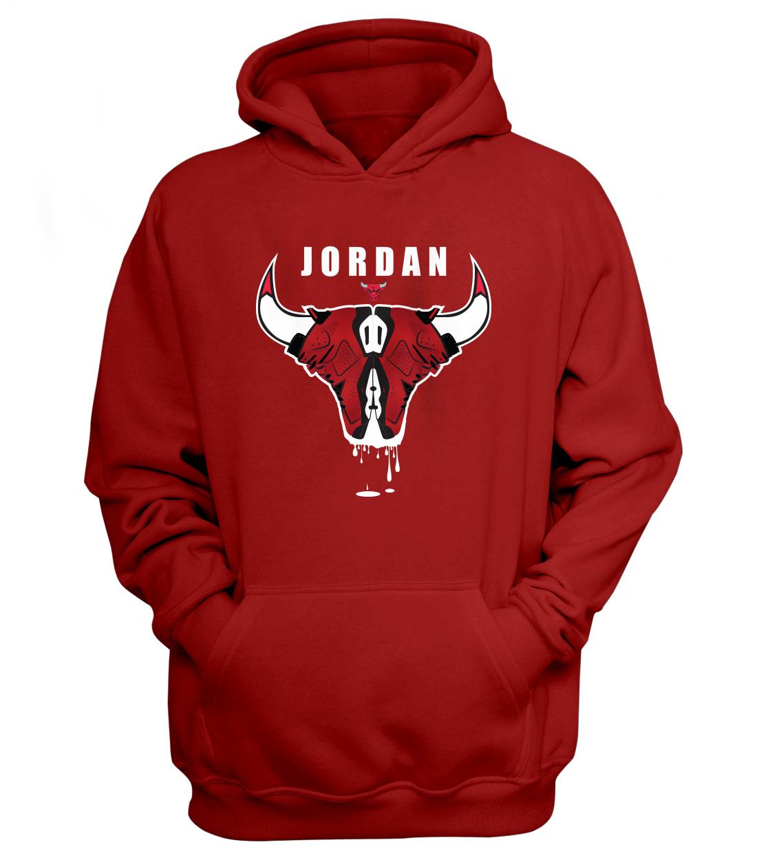 Air Jordan VI Hoodie (HD-RED-NP-12-PLYR-JRDN-SHOES)