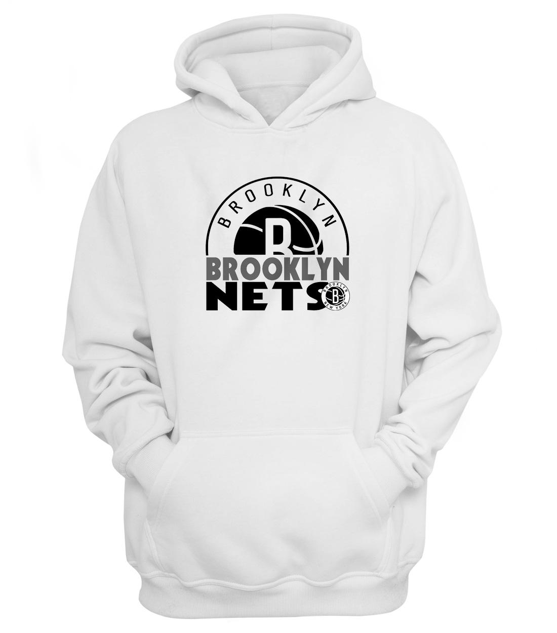 Brooklyn Nets Hoodie (HD-WHT-NP-357-NBA-Brklyn.Nets)