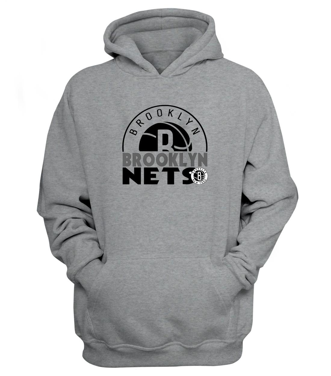 Brooklyn Nets Hoodie (HD-GRY-NP-357-NBA-Brklyn.Nets)