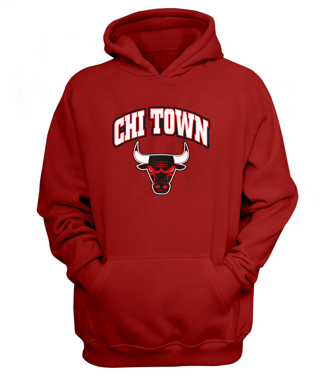 Chicago Bulls Chi Town Hoodie  (HD-RED-NP-47-NBA-CHI-TOWN)