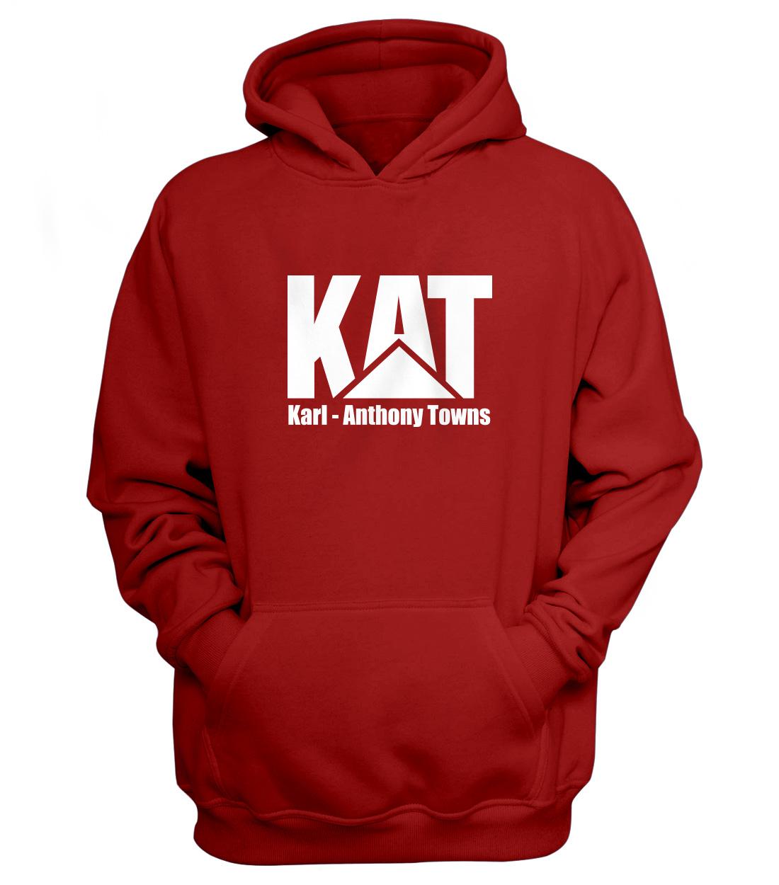 Karl Anthony Towns Hoodie (HD-RED-NP-kat-logo-616)