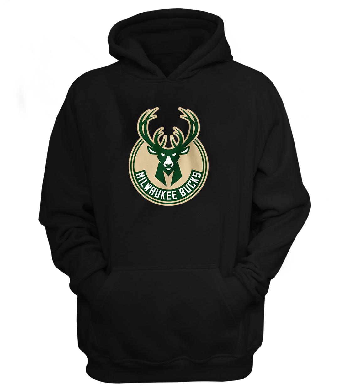 Milwaukee Bucks Hoodie (HD-BLC-NP-151-NBA-MIL-LOGO)