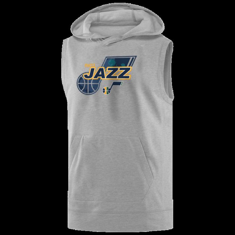 Utah Jazz Sleeveless (KLS-GRY-NP-200-NBA-UTH-LOGO)