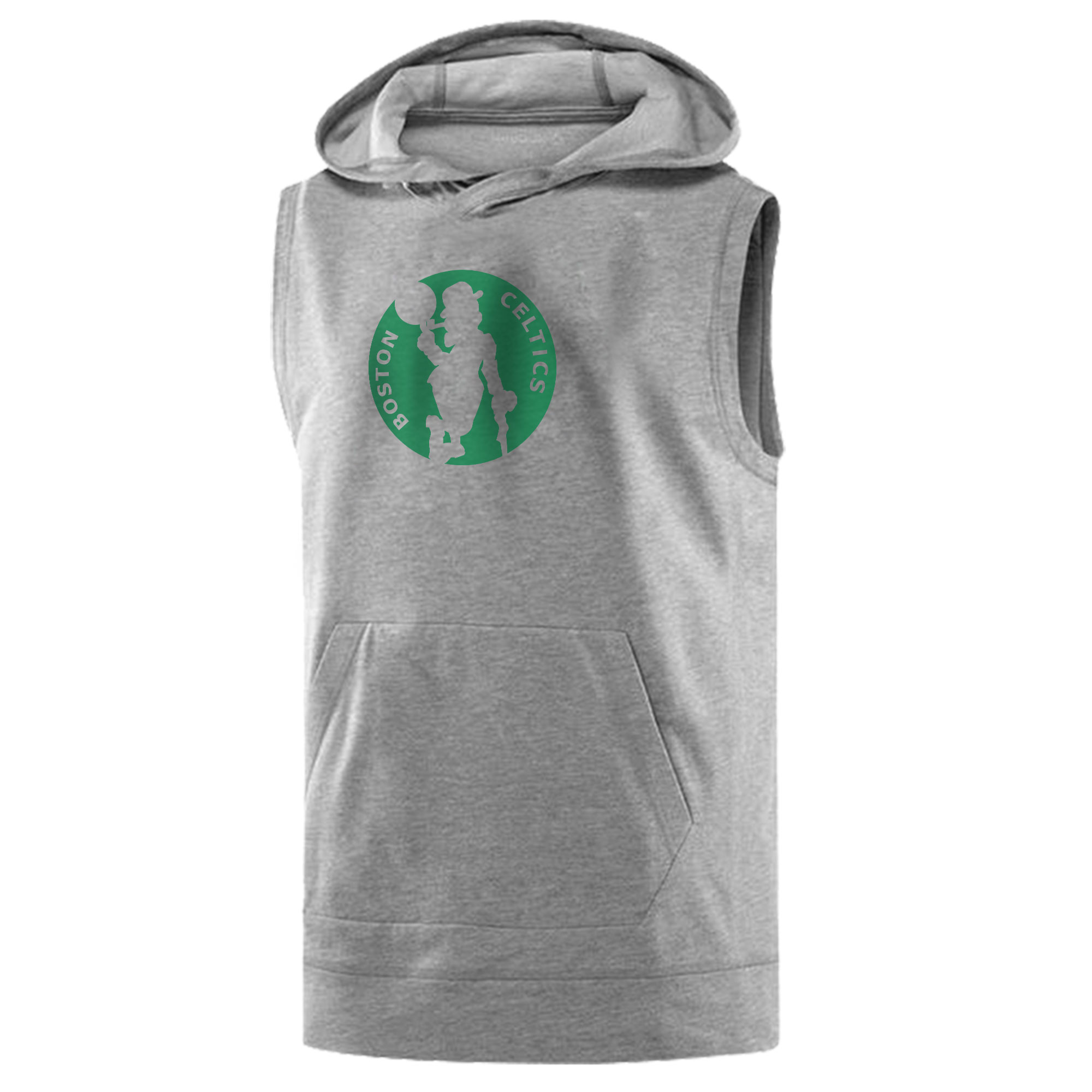 Boston Celtics Sleeveless (KLS-GRY-NP-35-NBA-BSTN-LOGO.2)