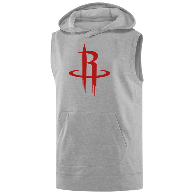 Houston Rockets Sleeveless (KLS-GRY-NP-114-NBA-HOU-LOGO)