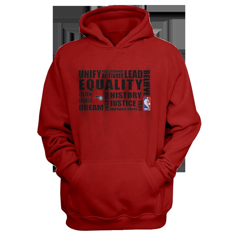 EQUALITY Orlando Magic  Hoodie (HD-RED-NP-292-NBA.ORL.syh.)